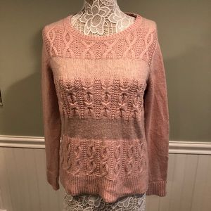 Ann Taylor Loft Supersoft Pink Cardigan